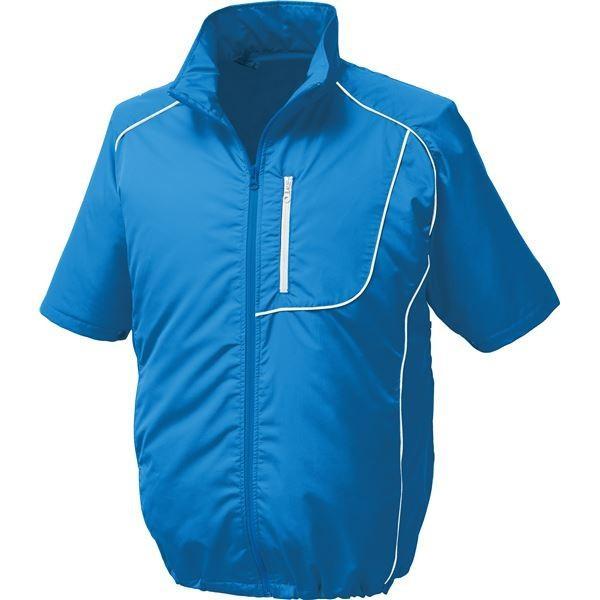作業着 | ポリエステル製半袖空調服 BP500S リチウムバッテリーセット (カラー:ブルー×ホワイト サイズ:2L)