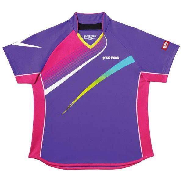 卓球用品 | ヤマト卓球 VICTAS(ヴィクタス) 卓球アパレル VLS029 Viscotecs ゲームシャツ(女子用) 031457 パープル Sサイズ