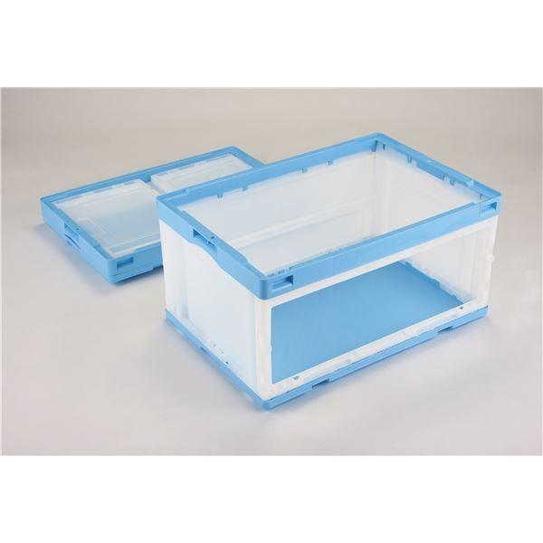 コンテナ   折りたたみコンテナオリコン (75L片扉なしL ブルー透明) CB76NR 岐阜プラスチック工業