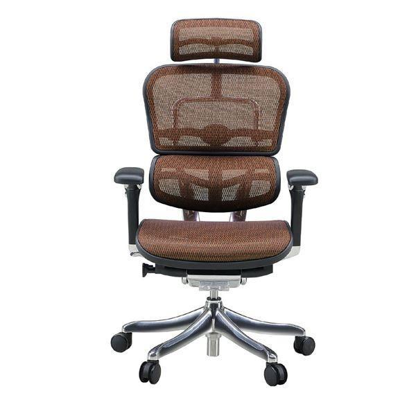 椅子 | オフィスチェア アームレスト付き ランバーサポート付き Ergohuman PRO (エルゴヒューマンプロ ) ハイタイプ オレンジ