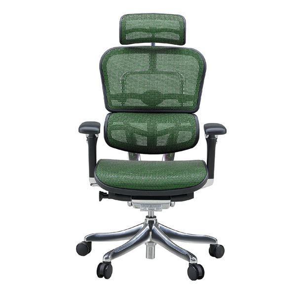 椅子   オフィスチェア アームレスト付き ランバーサポート付き Ergohuman PRO (エルゴヒューマンプロ ) ハイタイプ グリーン