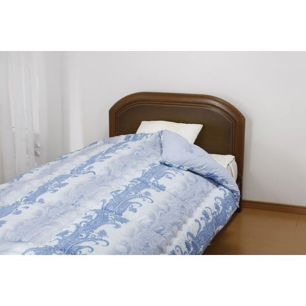 寝具   羽毛布団を超えるあったか掛布団 ダブル ブルー