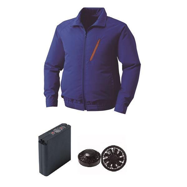 作業着 | 空調服 ポリエステル製空調服 大容量バッテリーセット 大容量バッテリーセット 大容量バッテリーセット ファンカラー:ブラック 0510B22C04S7 (カラー:ブルー サイズ:5L ) 9e7
