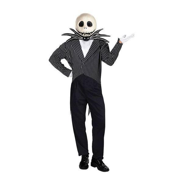 コスプレ   コスプレ衣装コスチューム (Jack Skellington Deluxe ジャケット・ボウタイ・マスク) ポリエステル 『Disguise』