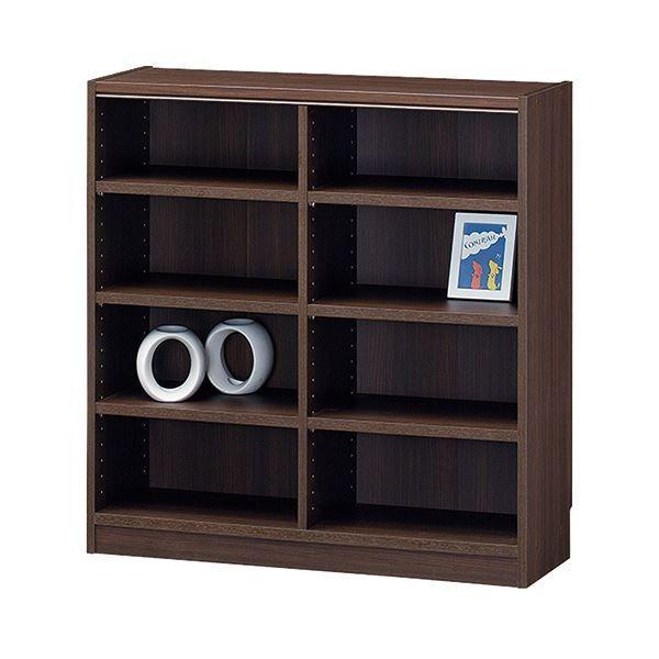 オフィス家具 | 白井産業 木製棚タナリオ TNL9087 TNL9087 ダークブラウン(高さ900mmタイプ幅870mm)