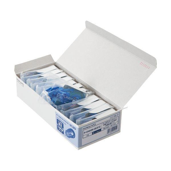 コクヨ テープのり ドットライナー しっかり貼るタイプ つめ替え用 8.4mm×16m タD400N08X12 1パック(12個) (×5)