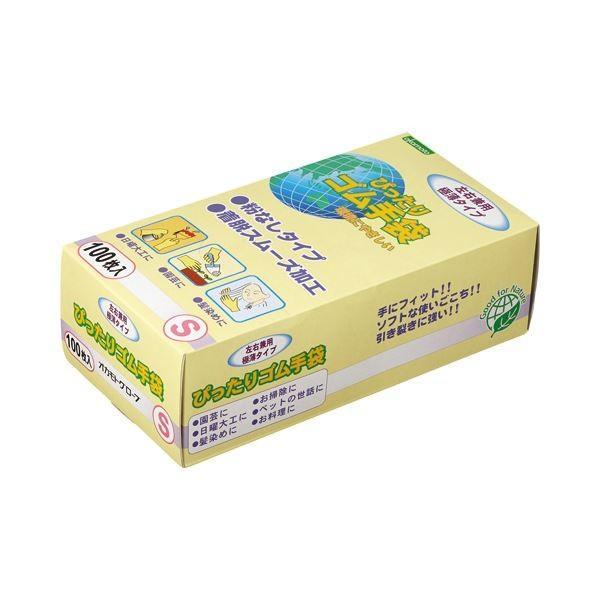 日用雑貨   オカモト ぴったりゴム手袋(粉なし) Sサイズ NO310S 1パック(100枚) (×10)