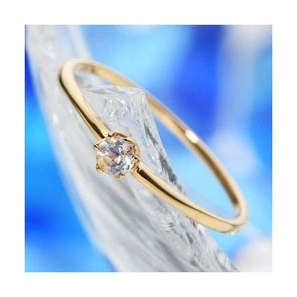『1年保証』 ロイヤルブルームーン | K18ブルームーンストーンリング 指輪 15号, トベチョウ df7fa932