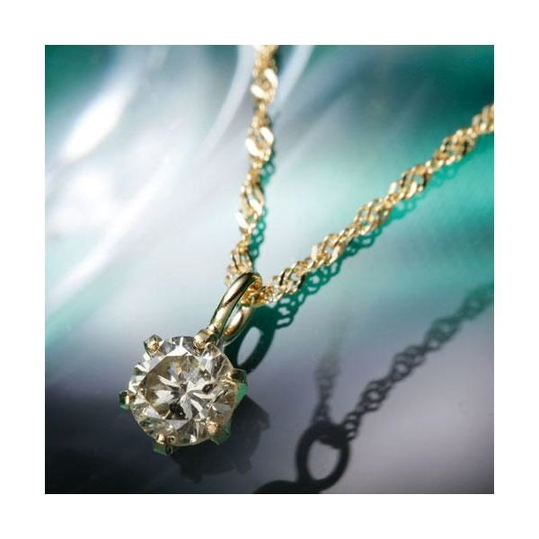 【中古】 ダイヤモンド | K18YGブラウンダイヤモンドペンダント/ネックレス, 西八代郡 64dc363d