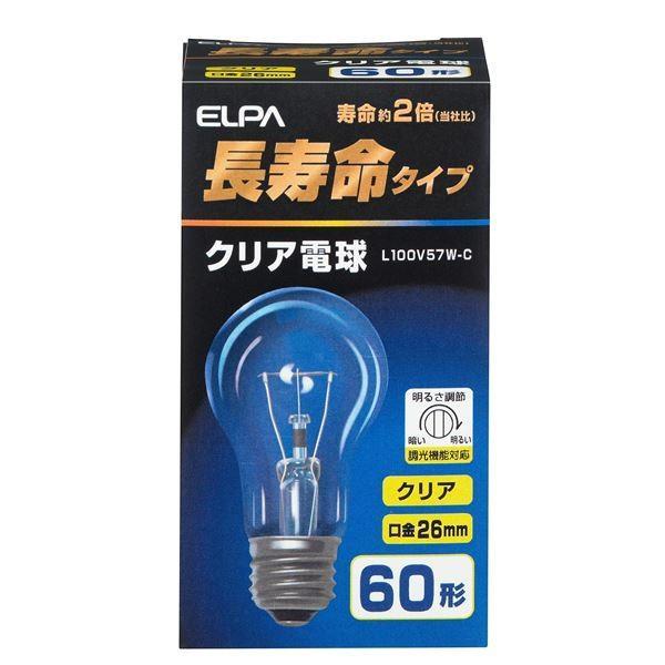電球 | ELPA 長寿命クリア電球 60W形 E26 L100V57WC (×35)