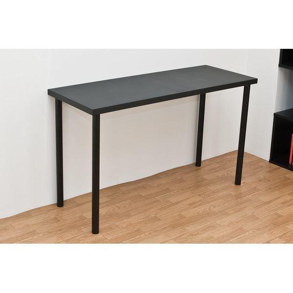 事務用デスク | フリーテーブル(作業台パソコンデスク) スチール脚 幅120cm×奥行き45cm ブラック(黒) ブラック(黒)