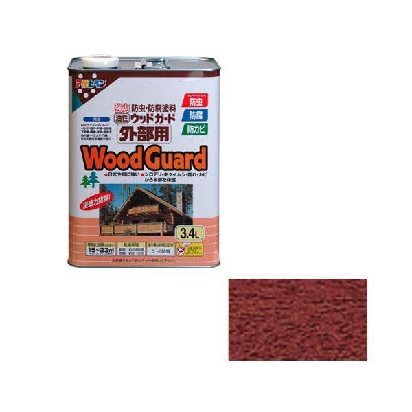 塗料 | アサヒペン AP ウッドガード外部用 3.4L 3.4L 3.4L マホガニー 07 5ce