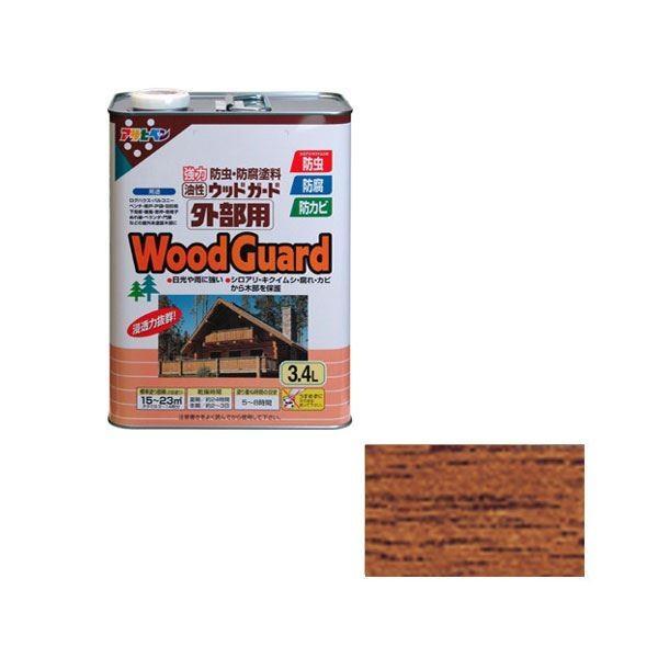 塗料 | アサヒペン AP ウッドガード外部用 3.4L チーク 03