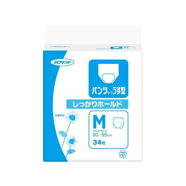 激安単価で パンツタイプうす型しっかりホールドM34枚 衛生用品 王子ネピア 5個入  -介護用品