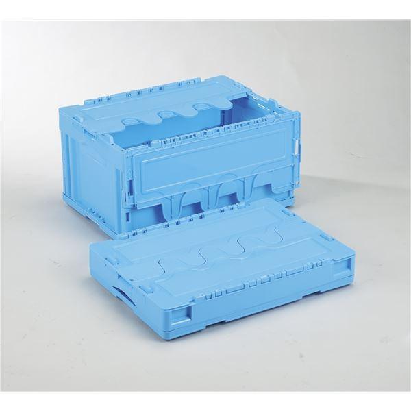 コンテナ   フタ付き折りたたみコンテナオリコン (40Lブルー) CFS41NR 岐阜プラスチック工業