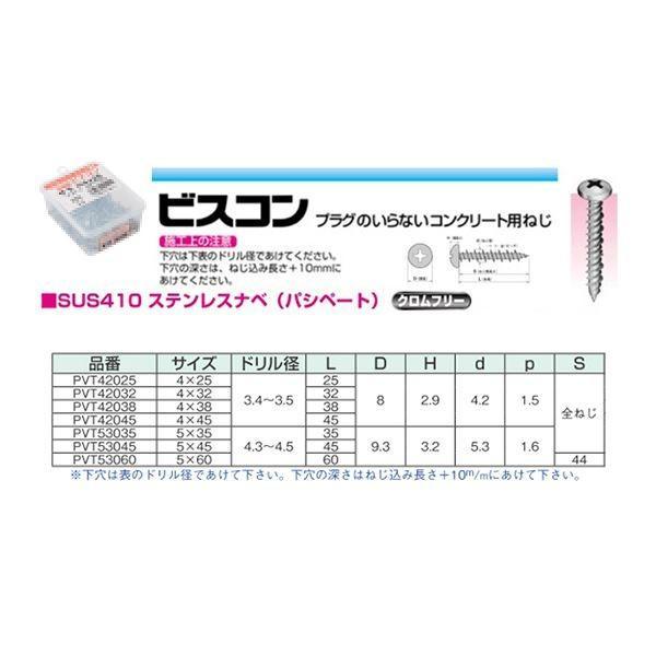 ステンビスコン PVT53045 ナベ5.0×45mm (100本入)(001001174) arinkurin 02