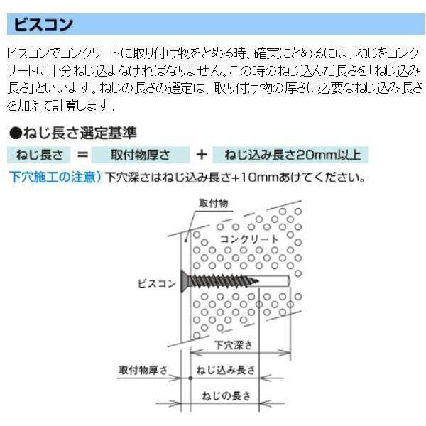 ステンビスコン PVT53045 ナベ5.0×45mm (100本入)(001001174) arinkurin 03