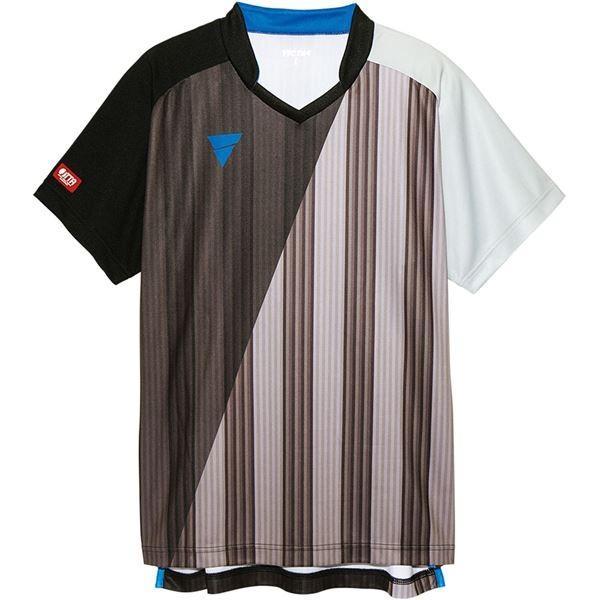 卓球用品 | VICTAS(ヴィクタス) VICTAS V‐GS053 ユニセックス ゲームシャツ 31466 BK(ブラック) 3XL
