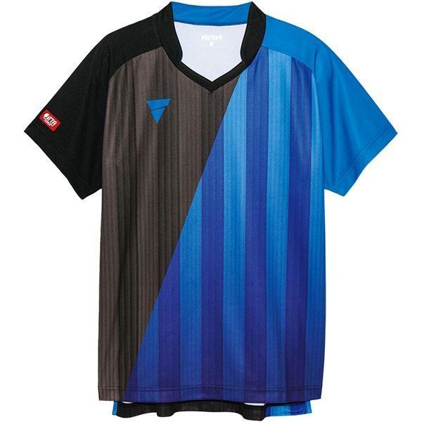 卓球用品 | VICTAS(ヴィクタス) VICTAS V‐GS053 ユニセックス ゲームシャツ 31466 BL(ブルー) XS