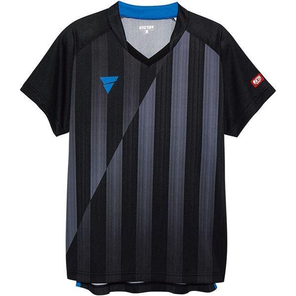 卓球用品 | VICTAS(ヴィクタス) VICTAS V‐NGS052 ユニセックス ゲームシャツ 31467 ブラック XL