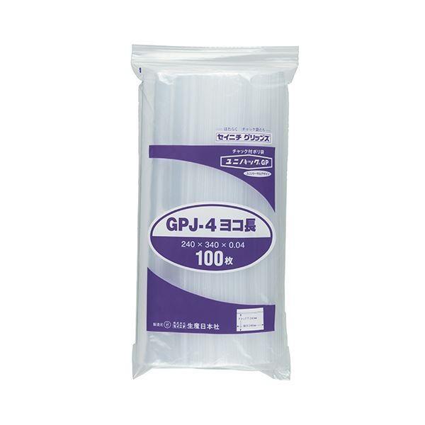 OPP袋   セイニチ ユニパックGP ヨコ長タイプヨコ340×タテ240×厚み0.04mm GPJ4ヨコナガ 1パック(100枚) (×5)