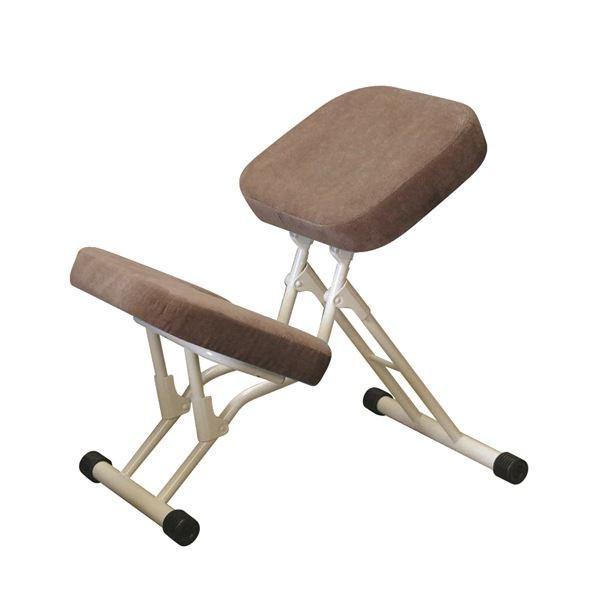 折りたたみチェア:学習椅子ワークチェア (ライトブラウン×ミルキーホワイト) 幅440mm 日本製 折り畳み 折り畳み スチールパイプ 『セブンポーズチェア』