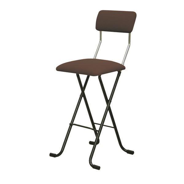 折りたたみチェア | 折りたたみ椅子 (2脚セット ブラウン×ブラック) 幅40cm 日本製 スチールパイプ 『Jメッシュチェア 『Jメッシュチェア ハイ』