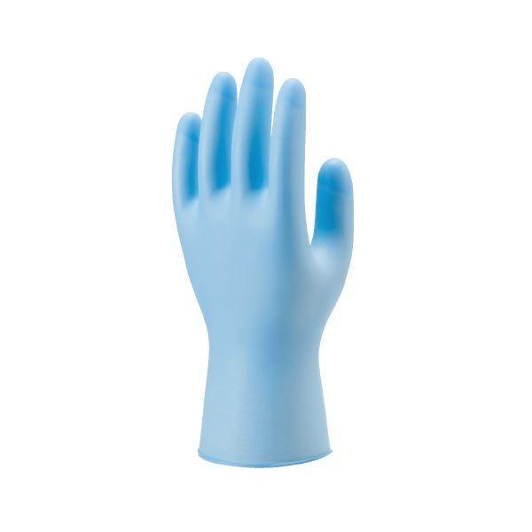 手袋   ショーワグローブ 883 ニトリスト・タフ100枚 Lブルー(×5)