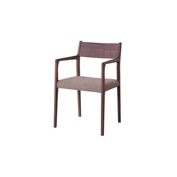椅子 | 北欧風 アームチェアパーソナルチェア (ウォールナット JPC122WAL) 日本製 木製 肘付き (リビング ダイニング 仕事 勉強)