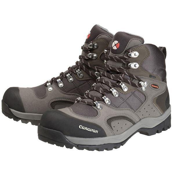レジャー用品 | トレッキングシューズ登山靴 (グレー 25.0cm) ゴアテックス 合皮合成皮革 『Caravan キャラバン C1_02S』