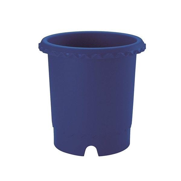 鉢 | バラ鉢植木鉢 (6号 ブルー(B)) 排水穴付き 上げ底構造 ガーデニング用品 園芸 (×40個セット)