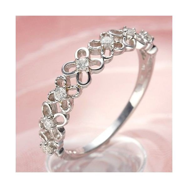 【一部予約販売】 ダイヤモンド | K10WGダイヤリング 指輪 フラワーリング 13号, レディース水着のjellyfish 183fb6db