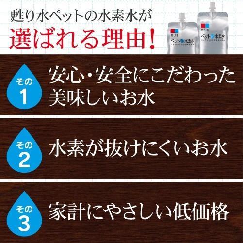 水素水 ミネラルゼロ ペット用水素水 220ml 5本  犬 猫 アルミ ボトル|arkhe|05