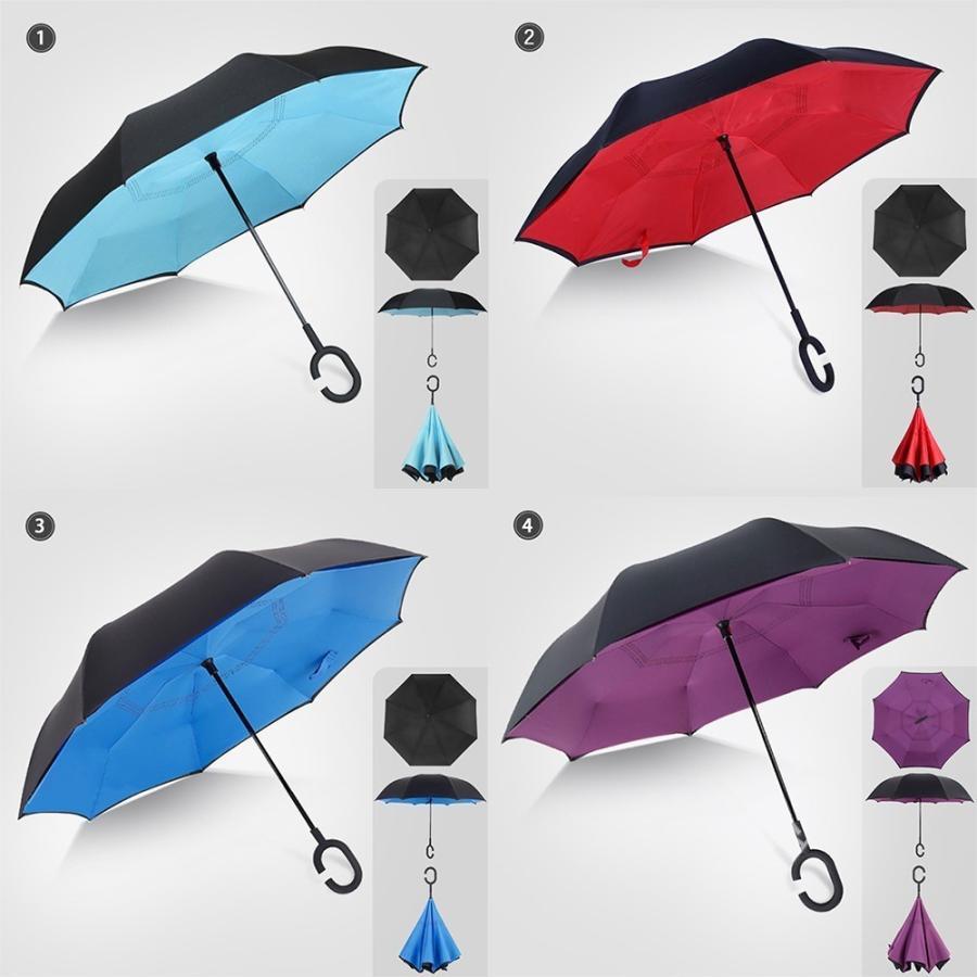 傘 日傘 完全遮光 晴雨兼用 逆さ傘 紫外線 日焼け 日よけ レディース メンズ スポーツ UVカット 長傘 濡れない 無地|arlife|13