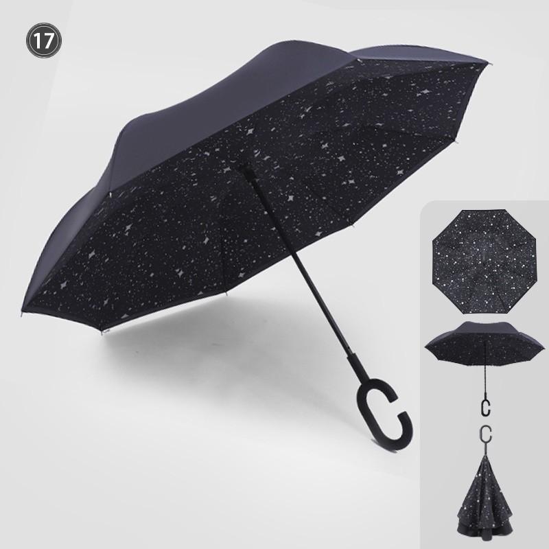 傘 日傘 完全遮光 晴雨兼用 逆さ傘 紫外線 日焼け 日よけ レディース メンズ スポーツ UVカット 長傘 濡れない 無地|arlife|14