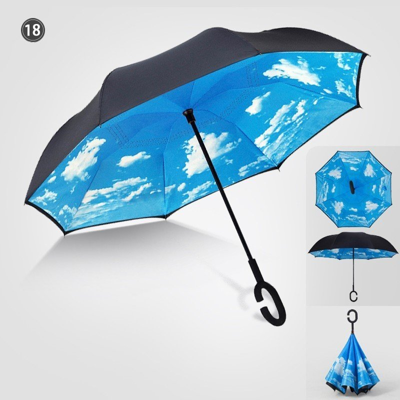 傘 日傘 完全遮光 晴雨兼用 逆さ傘 紫外線 日焼け 日よけ レディース メンズ スポーツ UVカット 長傘 濡れない 無地|arlife|15