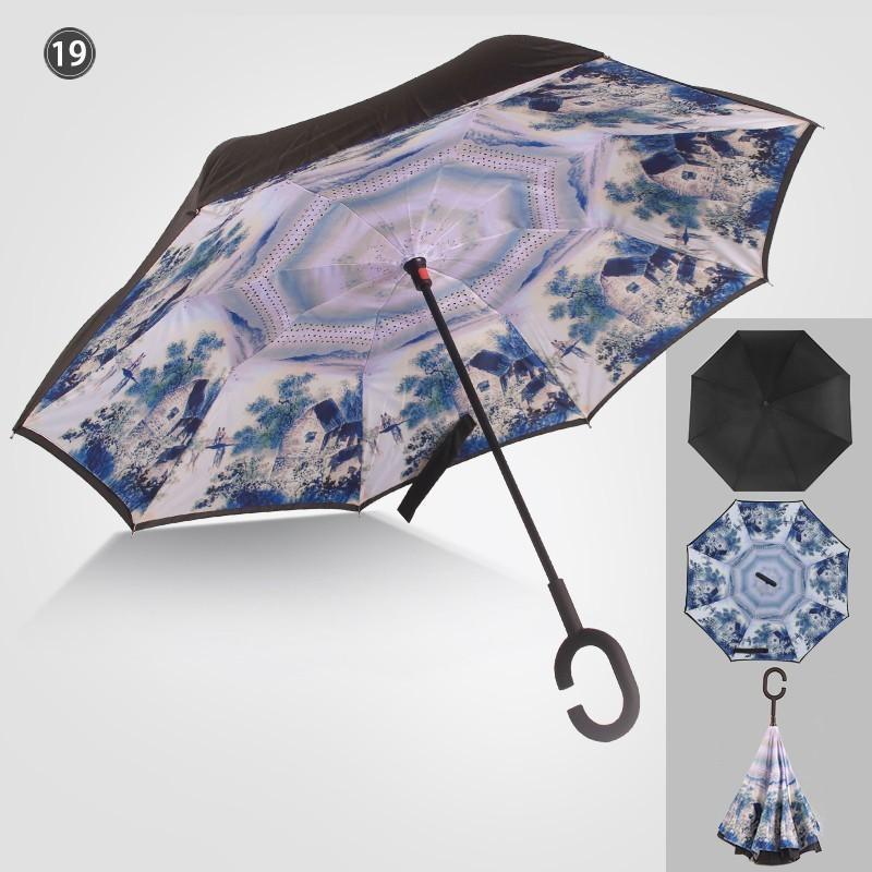 傘 日傘 完全遮光 晴雨兼用 逆さ傘 紫外線 日焼け 日よけ レディース メンズ スポーツ UVカット 長傘 濡れない 無地|arlife|16