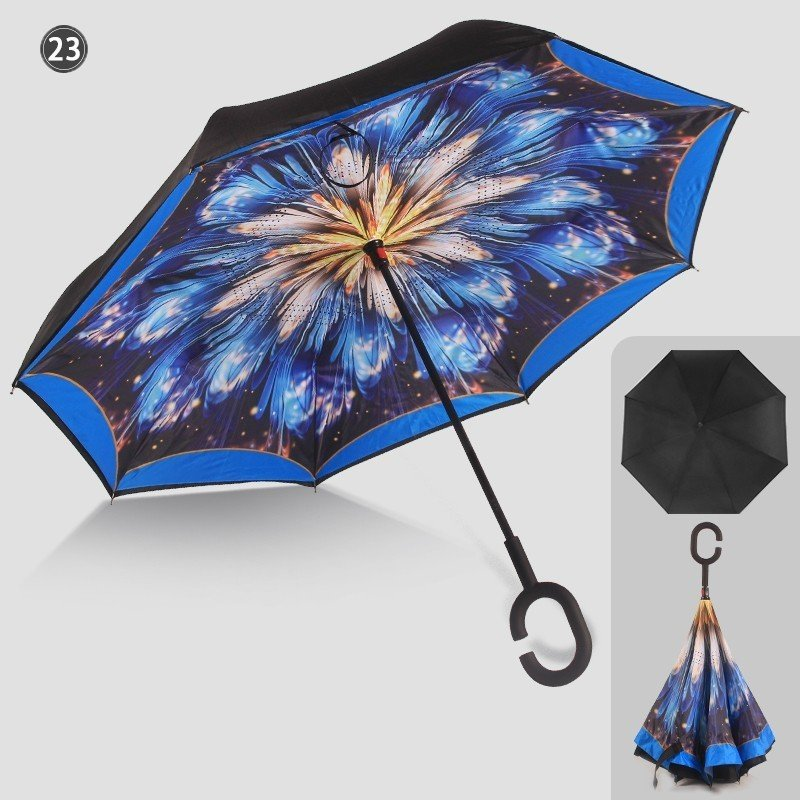 傘 日傘 完全遮光 晴雨兼用 逆さ傘 紫外線 日焼け 日よけ レディース メンズ スポーツ UVカット 長傘 濡れない 無地|arlife|17
