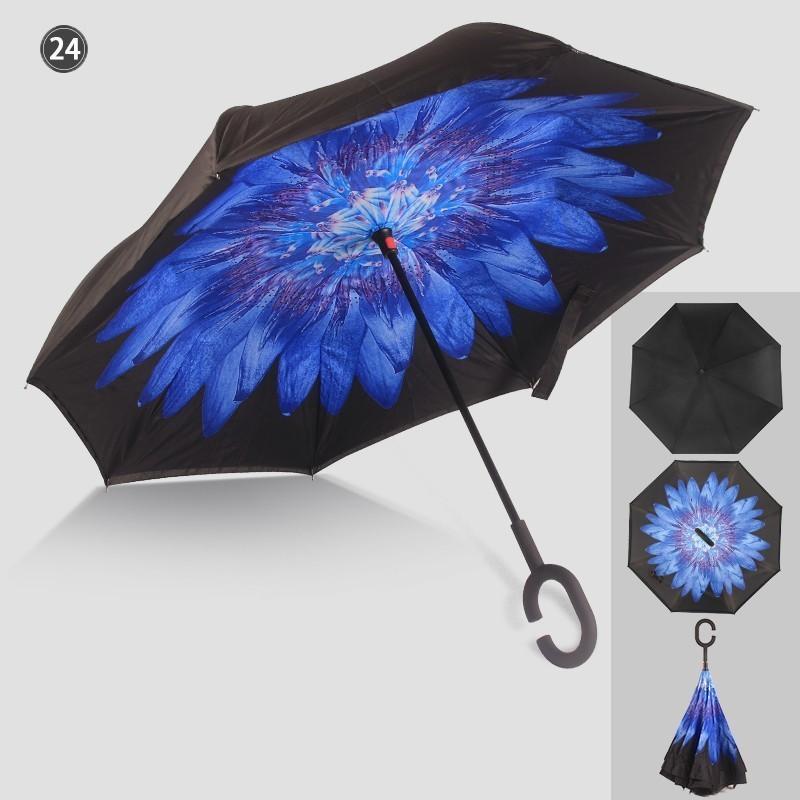 傘 日傘 完全遮光 晴雨兼用 逆さ傘 紫外線 日焼け 日よけ レディース メンズ スポーツ UVカット 長傘 濡れない 無地|arlife|18