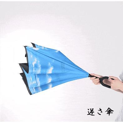 傘 日傘 完全遮光 晴雨兼用 逆さ傘 紫外線 日焼け 日よけ レディース メンズ スポーツ UVカット 長傘 濡れない 無地|arlife|03