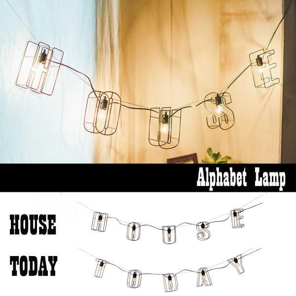 ランプ 壁掛け照明 壁掛け照明 アルファベット HOUSE TODAY