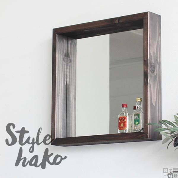 壁掛け鏡 壁掛け ミラー 木枠 鏡 洗面 収納 壁掛けミラー レトロ おしゃれ 玄関 洗面所 ウォールミラー