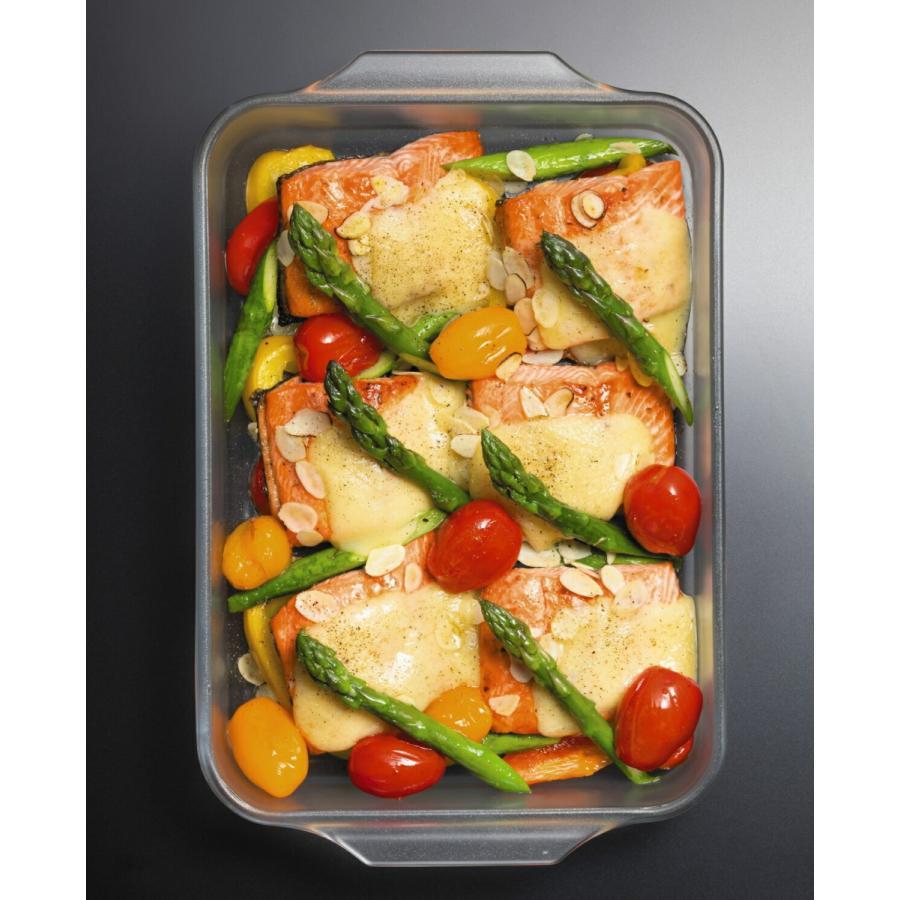 グラタン皿 大きめ セラミック コーティング レクタングルロースターM 耐熱ガラス  ケーキ皿 Cera Bake 食器 1800mL|aromagestore|06
