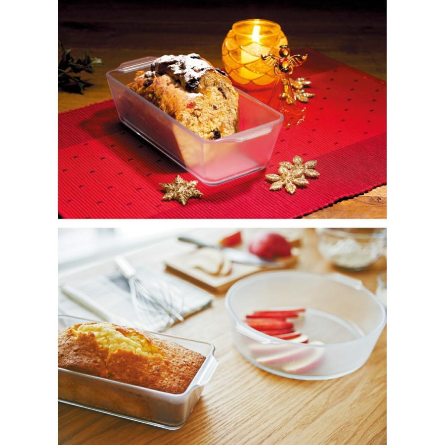 パウンドケーキ型 グラタン皿 セラミック コーティング 耐熱ガラス ケーキ皿 Cera Bake 製菓 食器 800mL aromagestore 08