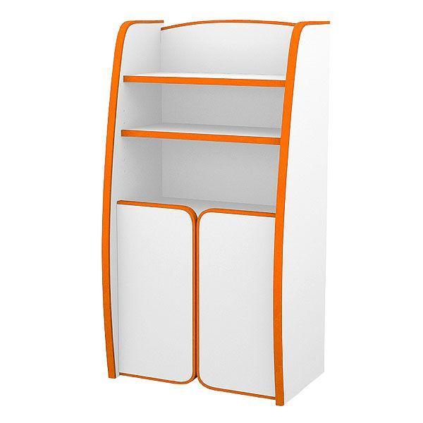送料無料 扉付ラック 棚タイプ 棚タイプ カラー4色(オレンジ・グリーン・ブルー・レッド)EVAキッズシリーズ