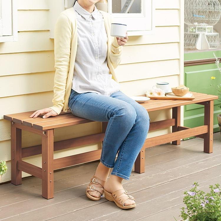 天馬 木目調アルミ縁台 150 〜屋外・ベンチ・ガーデンニング用品〜 arotho-y07 03