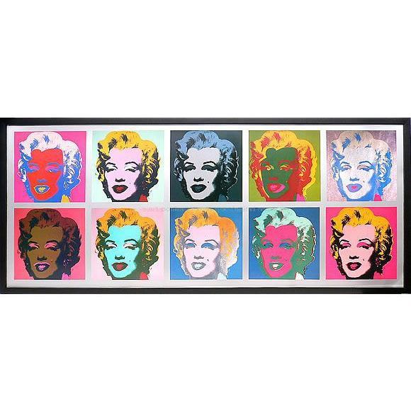 アートパネル アートポスター 絵画 インテリア 壁掛け タペストリー アートフレーム ポップアート アンディー ウォーホル 10 Marilyns 北欧 おしゃれ