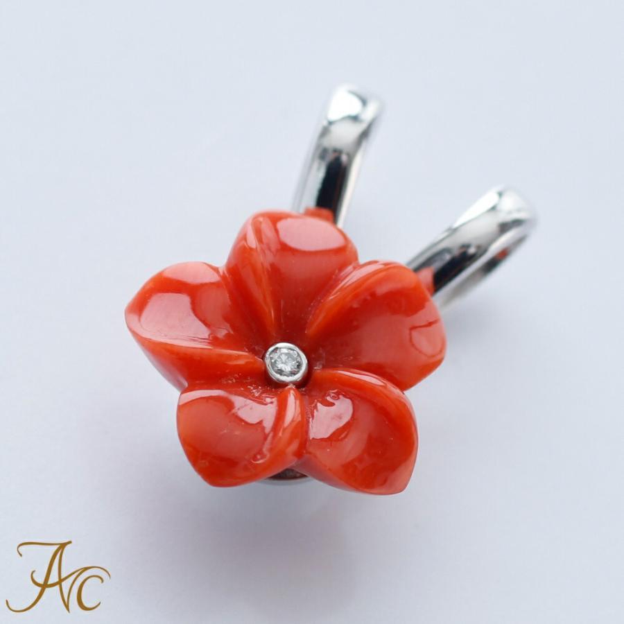 限定版 赤珊瑚 お花の お花の トップ K18WGペンダント K18WGペンダント トップ, used select shop Greed:b1f5f450 --- airmodconsu.dominiotemporario.com