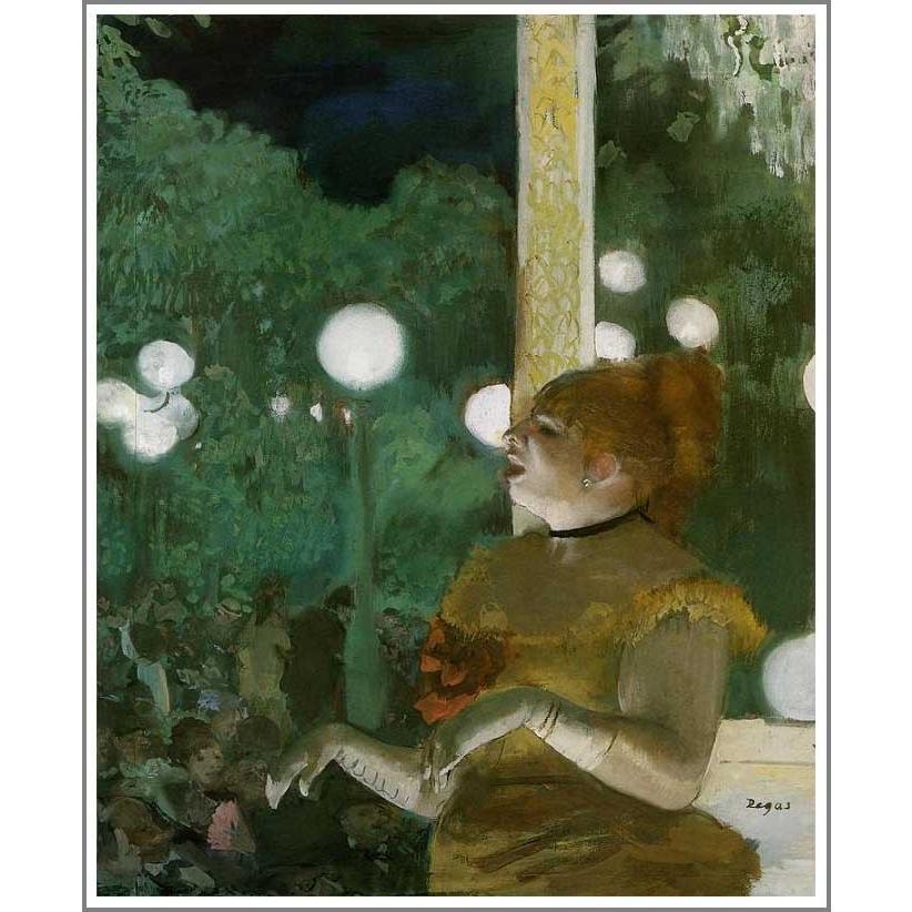 複製画 送料無料 絵画 油彩画 油絵 模写エドガー・ドガ「カフェ・コンソール」F25(80.3×65.2cm)プレゼント 贈り物 名画 オーダーメイド 額付き 直筆