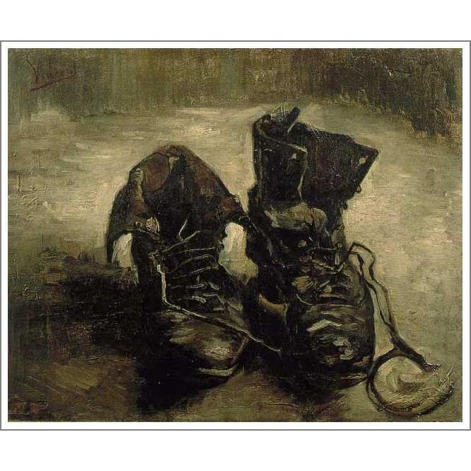 複製画 送料無料 絵画 油彩画 油絵 模写フィンセント・ファン・ゴッホ「古靴」F20(72.7×60.6cm)プレゼント 贈り物 名画 オーダーメイド 額付き 直筆